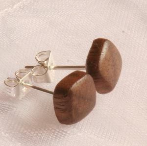 Walnut Stud Earrings